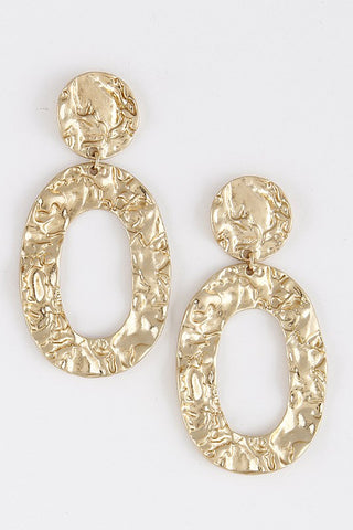 Gold Hammered Dangle & Drop Earrings