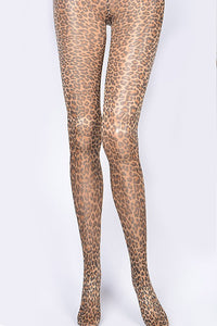 Beige Leopard Print Stocking