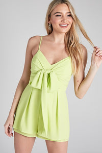 Lime Yellow Thin Strap Romper