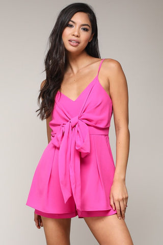 Pink Thin Strap Romper