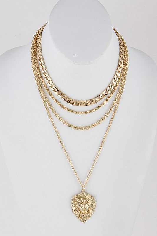 Chain-link King of the Jungle Necklace