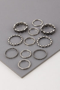 11 Piece Fashionable Ring Set