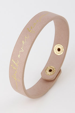 Light Pink Faith Over Fear Bracelet