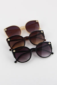 Cat Eye Insect Embellishment Sunglasses