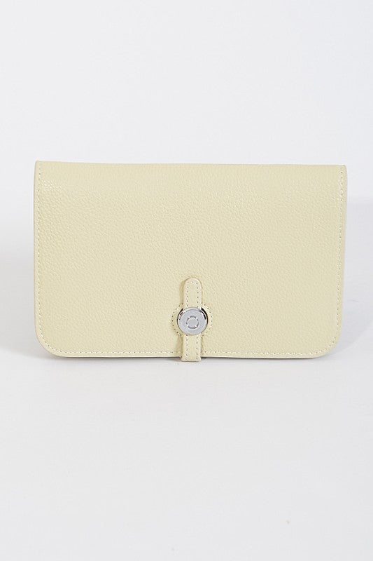 Beige Simple Leather Wallet