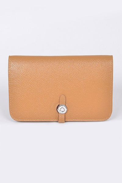 Light Camel Simple Leather Wallet