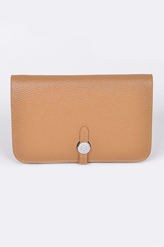 Khaki Simple Leather Wallet