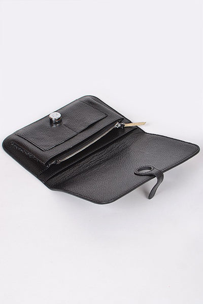 Black Simple Leather Wallet