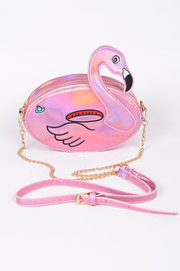Flamingo Shiny Clutch
