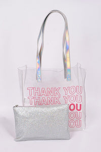 Clear Thank You Tote Bag