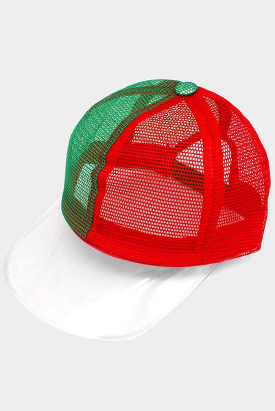 Clear Color Block Transparent Brim Trucker Hat
