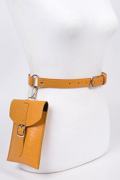 Mustard Hooked Pouch Fanny Pack
