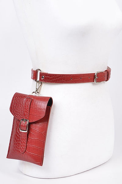 Burgundy Hooked Pouch Fanny Pack