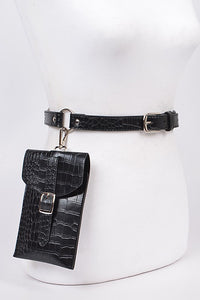 Black Hooked Pouch Fanny Pack
