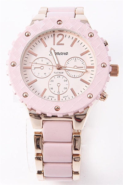 Pink and Rose Gold Fashion Watch