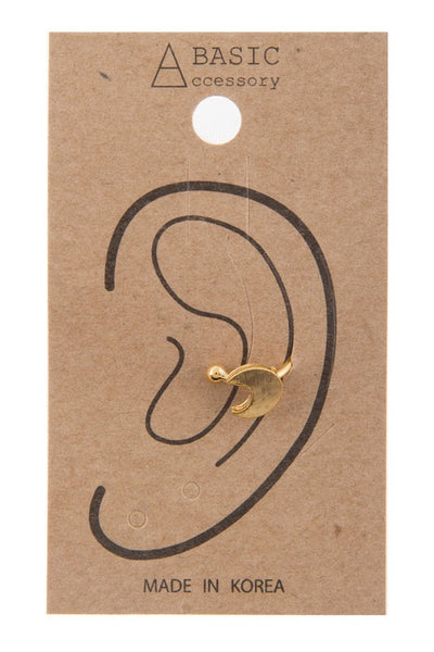 Gold Crescent Ear Cuff