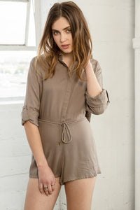 Army Cut Out Collared Romper