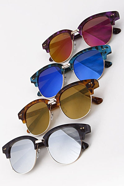 Colored Tortoise Frame Sunglasses - Nofashiondeadlines