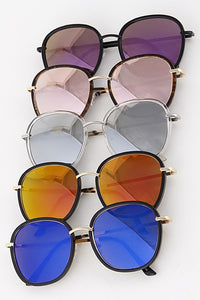 Tinted Fashion Framed Sunglasses