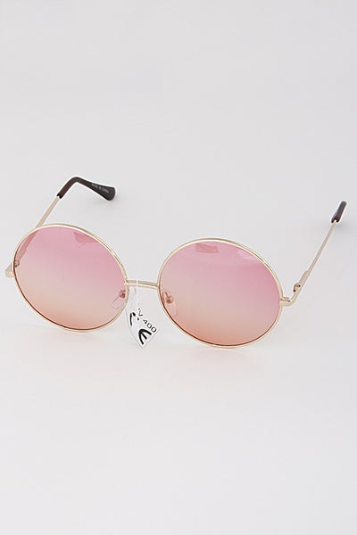 Round Tinted Fashion Sunglasses - Nofashiondeadlines