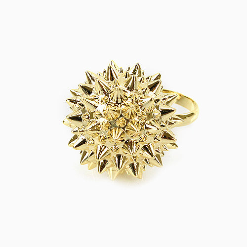 Gold Spiky Ball Fashion Ring