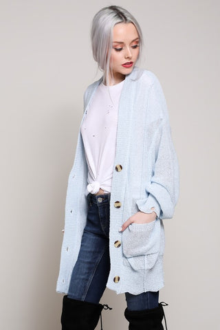 Loose Fit Long Cardigan Sweater - Nofashiondeadlines