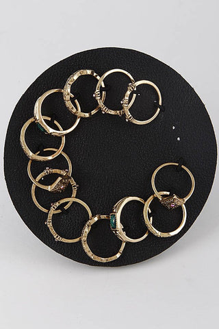 Gold Multi Pack Fashion Rings