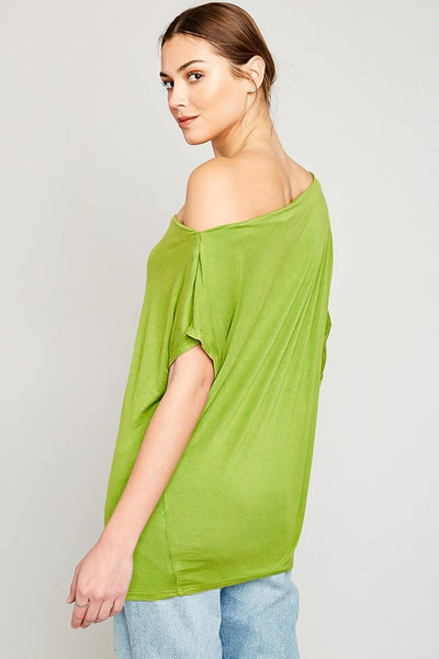 Loose Fit One Shoulder Top - Nofashiondeadlines