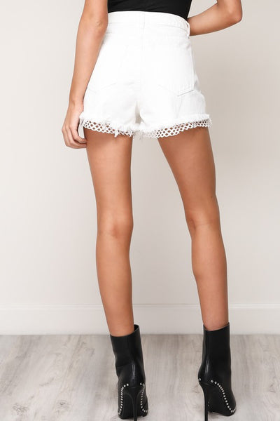 Fishnet Insert Shorts - Nofashiondeadlines