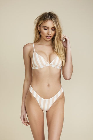Sand Striped Bikini Top