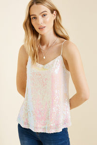 Light Purple Iridescent Sequin Tank