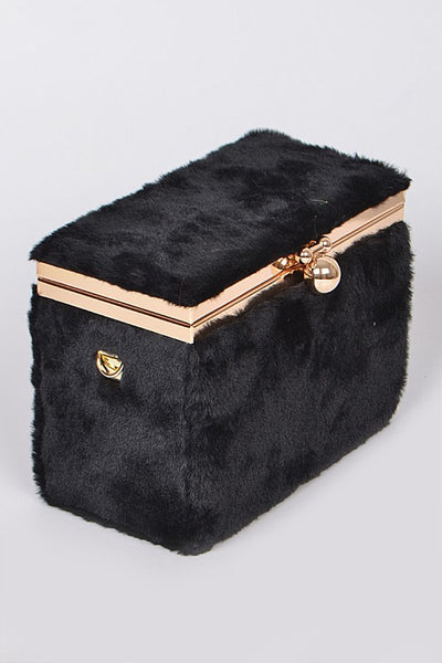 Furry Jewelry Box Inspired Clutch - Nofashiondeadlines