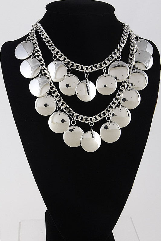 Gypsy Style Necklace With Circle Details - Nofashiondeadlines
