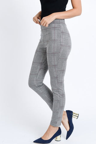 Plaid Print Checkered Pants