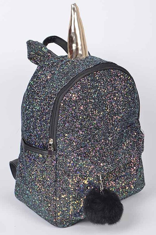 Black Unicorn Sparking Backpack - Nofashiondeadlines