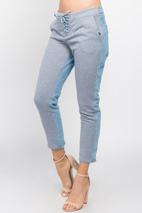 French Terry Two Tone Jeans