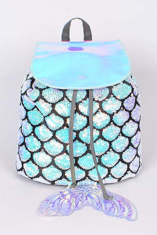 Mermaid Lovely Backpack With Sequins