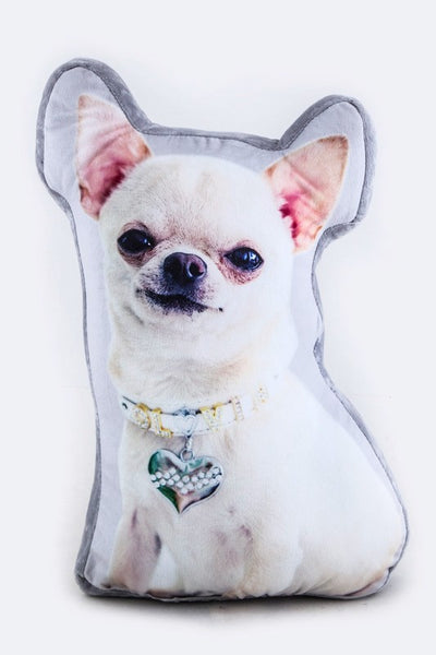Chihuahua Print Cushion