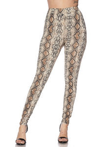 Snake Print Legging Pants