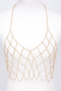 Fishnet Style Body Chain