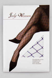 Purple Fishnet Stockings