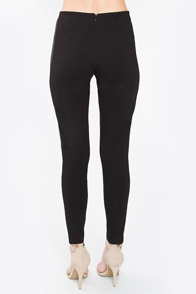 Black Ponte Satin Leggings - Nofashiondeadlines
