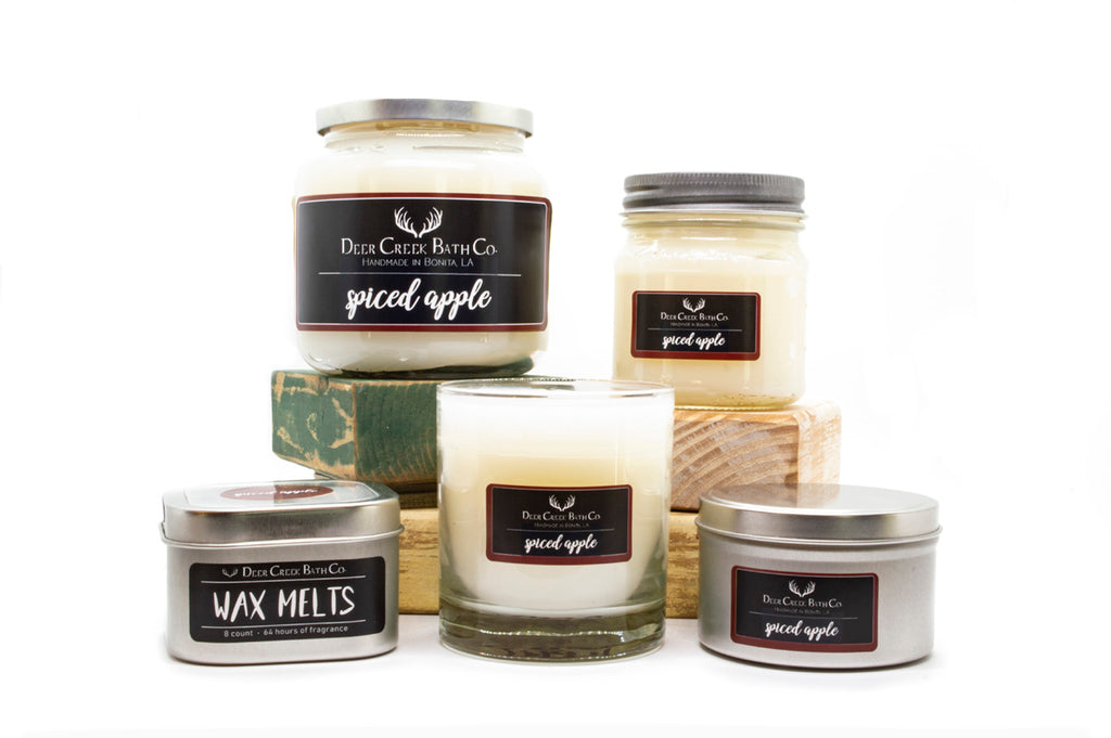 Spiced Apple Candles and Wax Melts