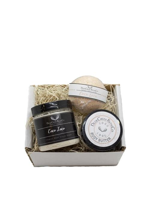 Sugar Scrub, Body Butter and Bath Bomb Box  [pick your scent]