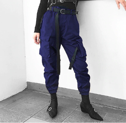 Streetwear High Waist Women Cargo Pants