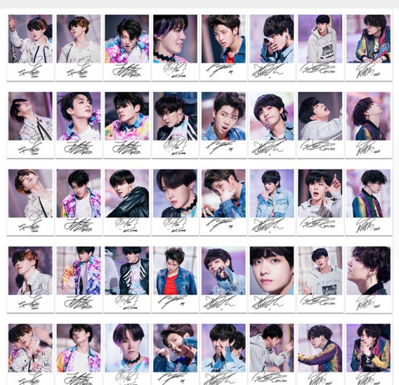 40pcs/set K-POP BTS FAKE LOVE Polaroid Lomo Photo Cards