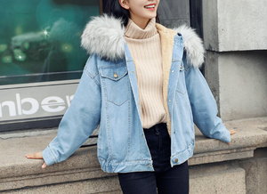 Korean Hooded Denim Coat