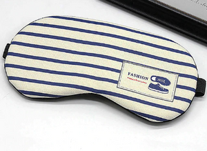 Striped Cotton Eye Cover Masks Blindfold