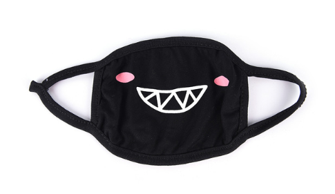 K-POP Black Bear Cotton Dust proof Mouth Mask
