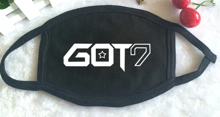 K-POP GOT7 Nestival Tour Album Logo Print Mouth Face Mask